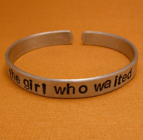 Doctor Who Inspired - The Girl Who Waited - A Hand Stamped Bracelet in Aluminum or Sterling Silver