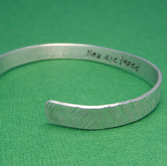 Custom - Hidden Message -- Double Sided Hand Stamped Aluminum Bracelet