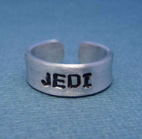 Star Wars Inspired - Jedi - A Hand Stamped Aluminum Ring