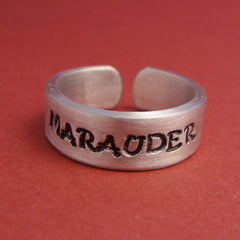 Harry Potter Inspired - Marauder - A Hand Stamped Aluminum Ring
