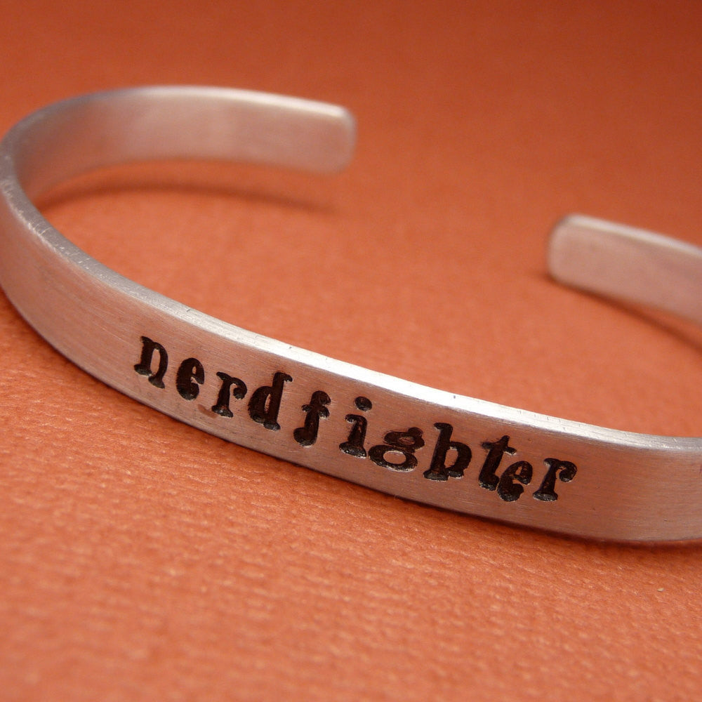 Nerdfighter - A Hand Stamped Bracelet in Aluminum or Sterling Silver