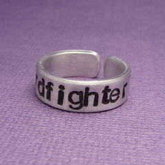 Nerdfighter - A Hand Stamped Aluminum Ring