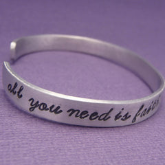 Peter Pan Inspired - Faith, Trust and Pixie Dust - A Hand Stamped Bracelet in Aluminum or Sterling Silver