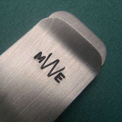 Custom Hand Stamped Monogrammed Money Clip