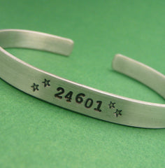 Les Miserables Inspired - 24601 - A Hand Stamped Bracelet in Aluminum or Sterling Silver