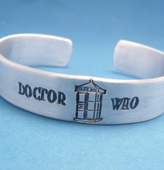 Doctor Who Inspired - Doctor Who - A Hand Stamped Aluminum Bracelet