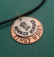Doctor Who Inspired - Wibbly Wobbly, Timey Wimey - A Hand Stamped Necklace