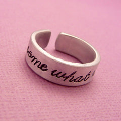 Moulin Rouge Inspired - Come What May - A Hand Stamped Aluminum Ring