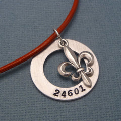Les Miserables Inspired - 24601 - A Hand Stamped Aluminum Washer Necklace