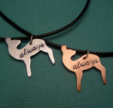 Harry Potter Inspired - Always - A Hand Stamped Aluminum or Copper Doe Necklace