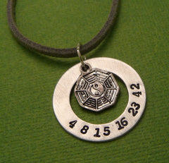 LOST Inspired - The Numbers - A Hand Stamped Aluminum Washer Necklace