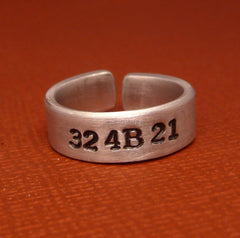 Orphan Black Inspired - 324B21 - A Hand Stamped Aluminum Ring