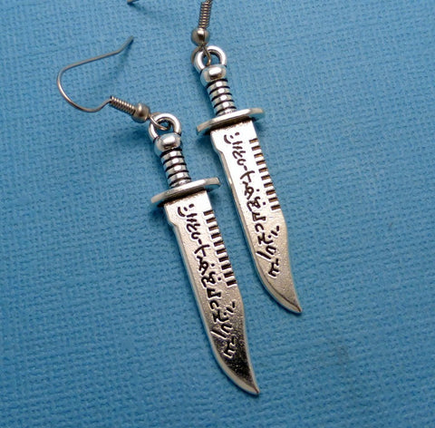 Supernatural Inspired - Demon Killing-Knife Earrings