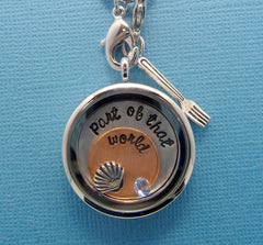 Little Mermaid Inspired - Part Of That World - A Floating Locket / Memory Locket / Living Locket