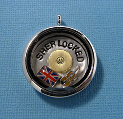 Sherlock Inspired - SHERLOCKED - A Floating Locket (Memory / Living Locket)