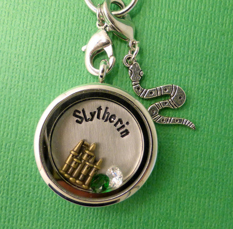 Harry Potter Inspired - Sytherin - A Floating Locket / Memory Locket / Living Locket