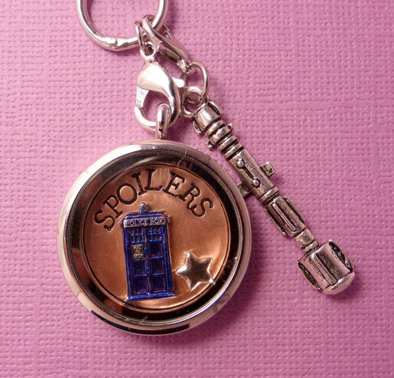 Doctor Who Inspired - SPOILERS - A Floating Locket / Memory Locket / Living Locket