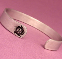 SHOP EXCLUSIVE - Supernatural Inspired - Anti-Possession Symbol - A Hand Stamped Aluminum Bracelet