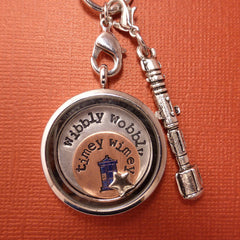 Doctor Who Inspired - Wibbly Wobbly, Timey Wimey - A Floating Locket / Memory Locket / Living Locket