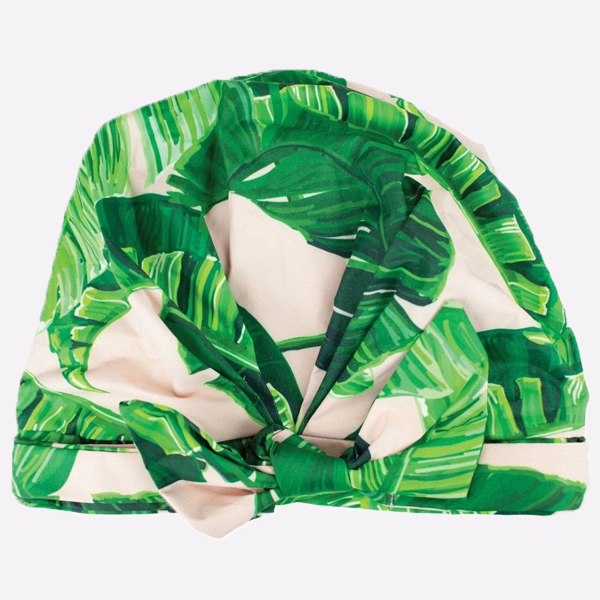 Luxe Shower Cap | Palm Print