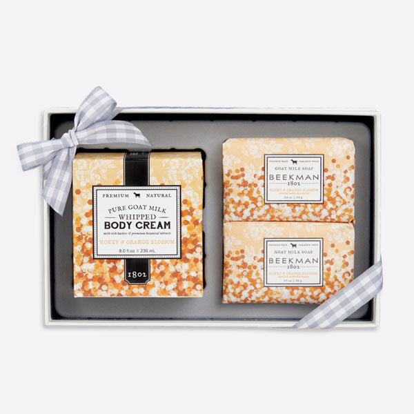 Honey & Orange Blossom Soap and Whipped Body Cream Trio