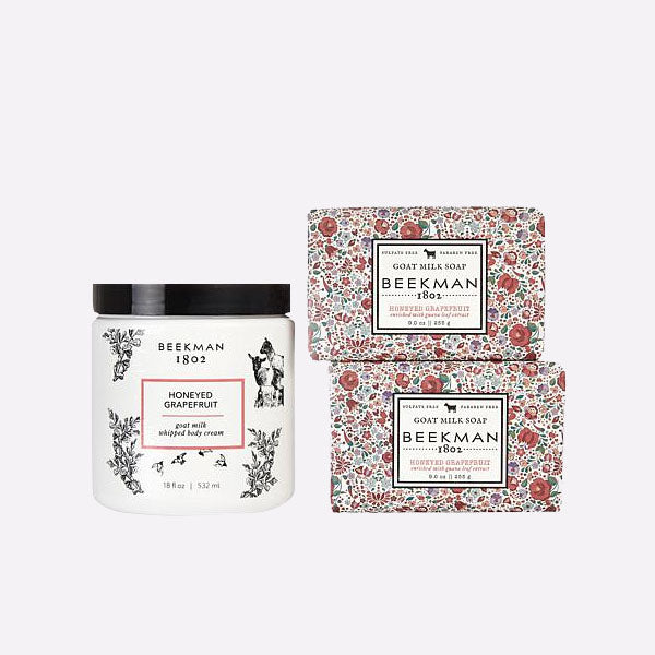 Honeyed Grapefruit Soap and Whipped Body Cream Trio
