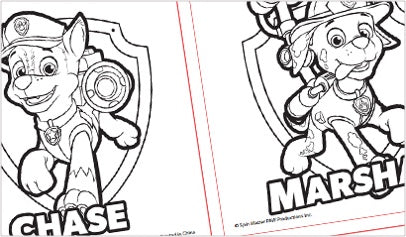 Free Printable Coloring Sheets Paw Patrol Friends Official Site