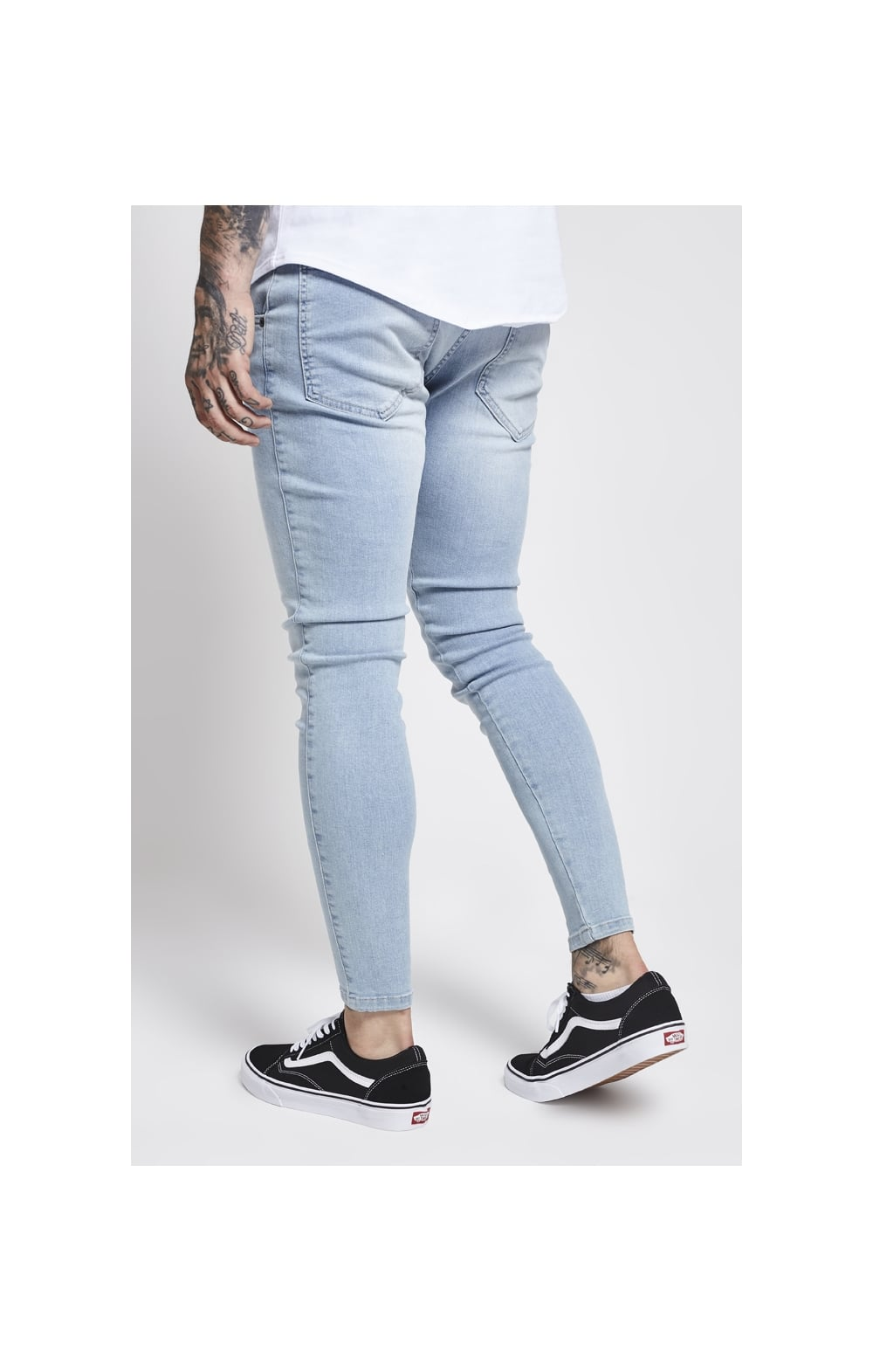 SikSilk Skinny Denim – Light Blue (4)