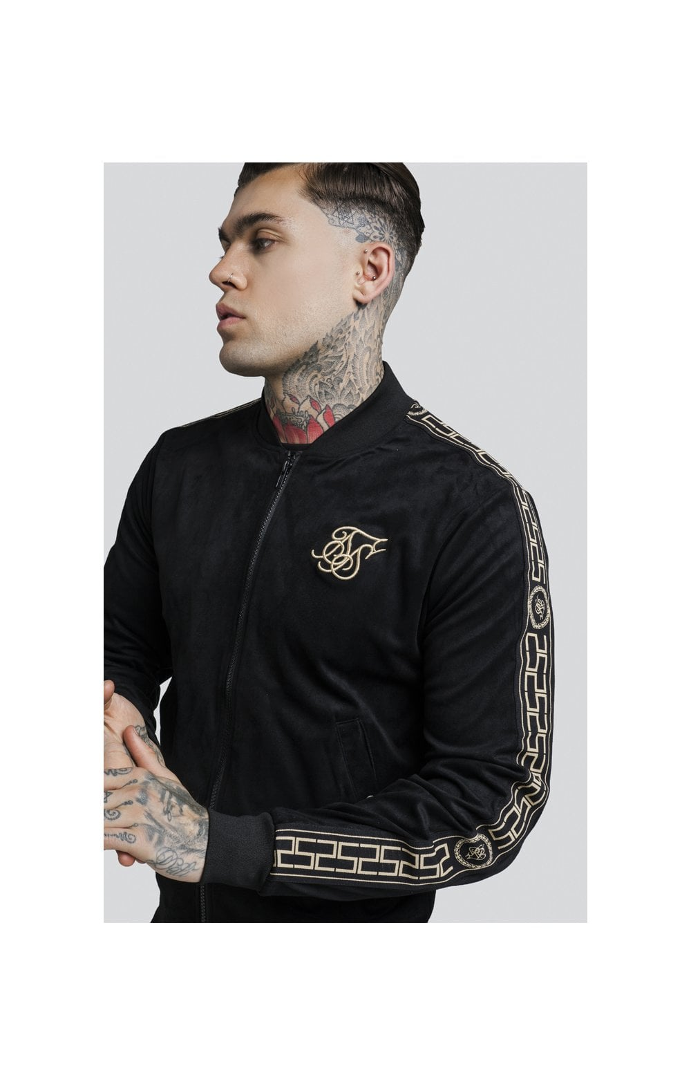 Load image into Gallery viewer, SikSilk Cartel Suede Bomber – Black