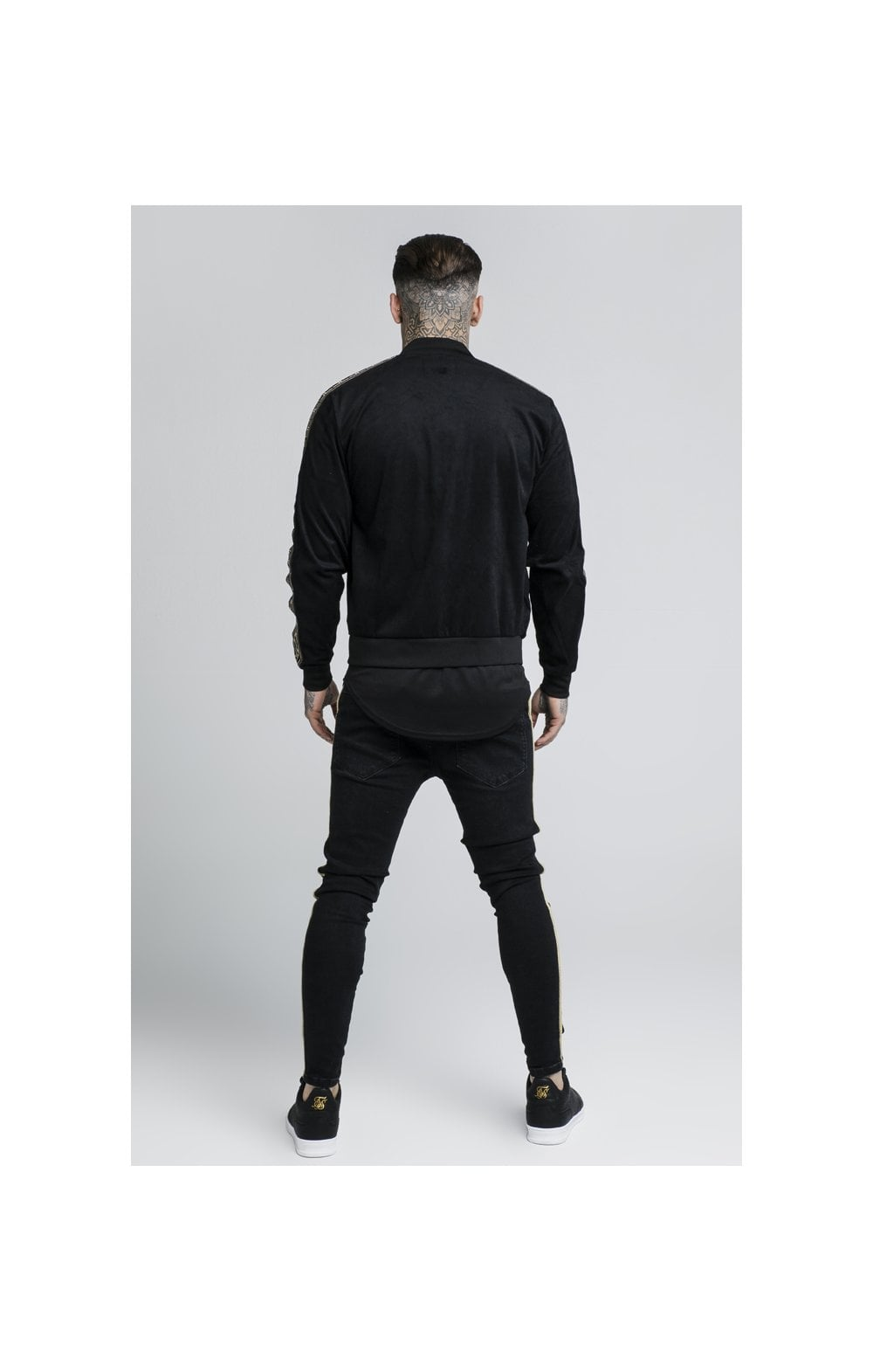 Load image into Gallery viewer, SikSilk Cartel Suede Bomber – Black (4)