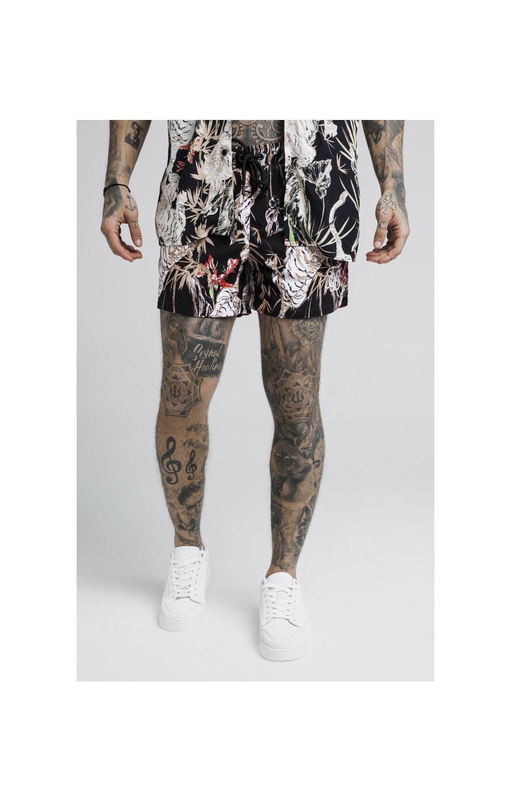 Load image into Gallery viewer, SikSilk Standard Swim Shorts – Black (1)
