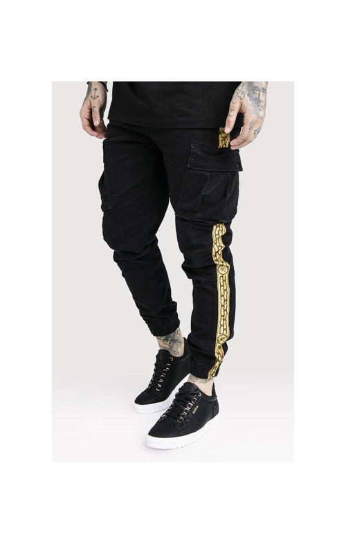 SikSilk x Dani Alves Cargo Pants - Black