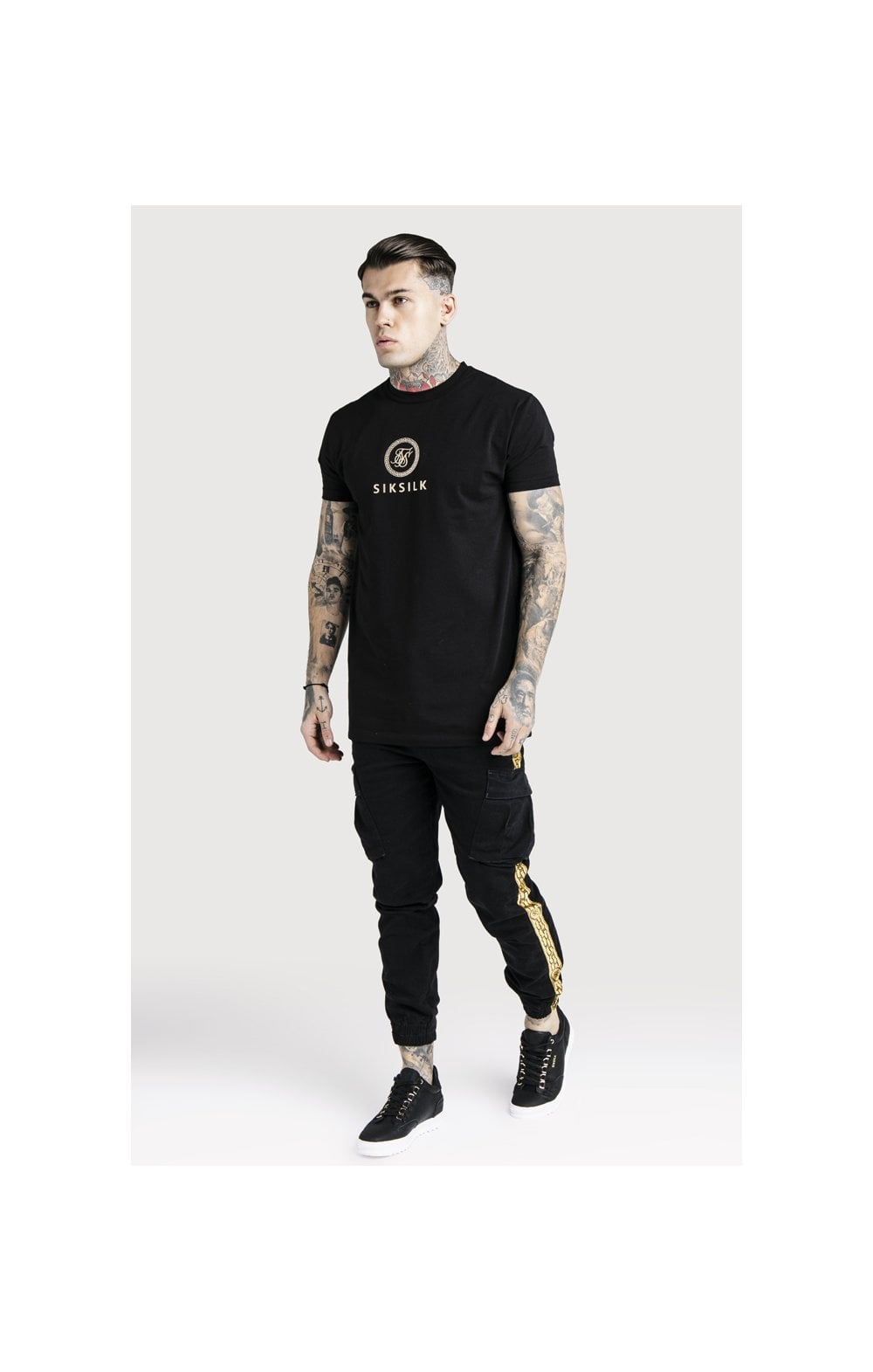 Load image into Gallery viewer, SikSilk x Dani Alves Cargo Pants - Black (6)