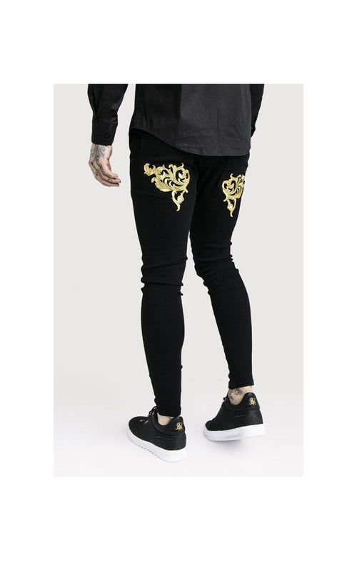SikSilk x Dani Alves Low Rise Skinny Denims - Black