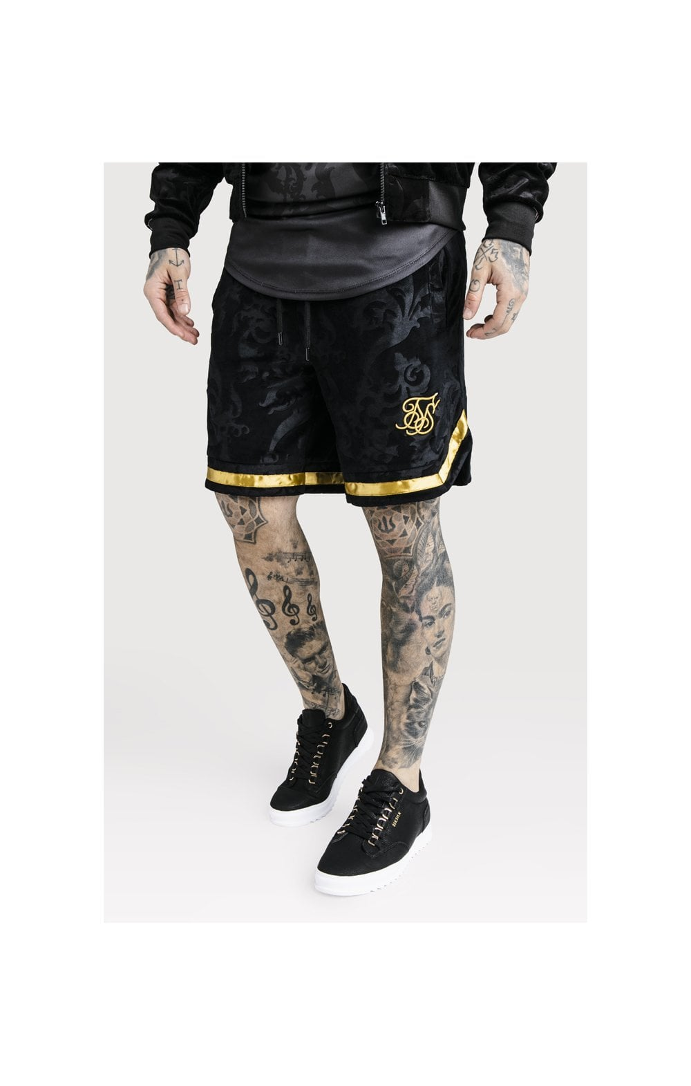 Load image into Gallery viewer, SikSilk x Dani Alves Velour Baseball Shorts - Black