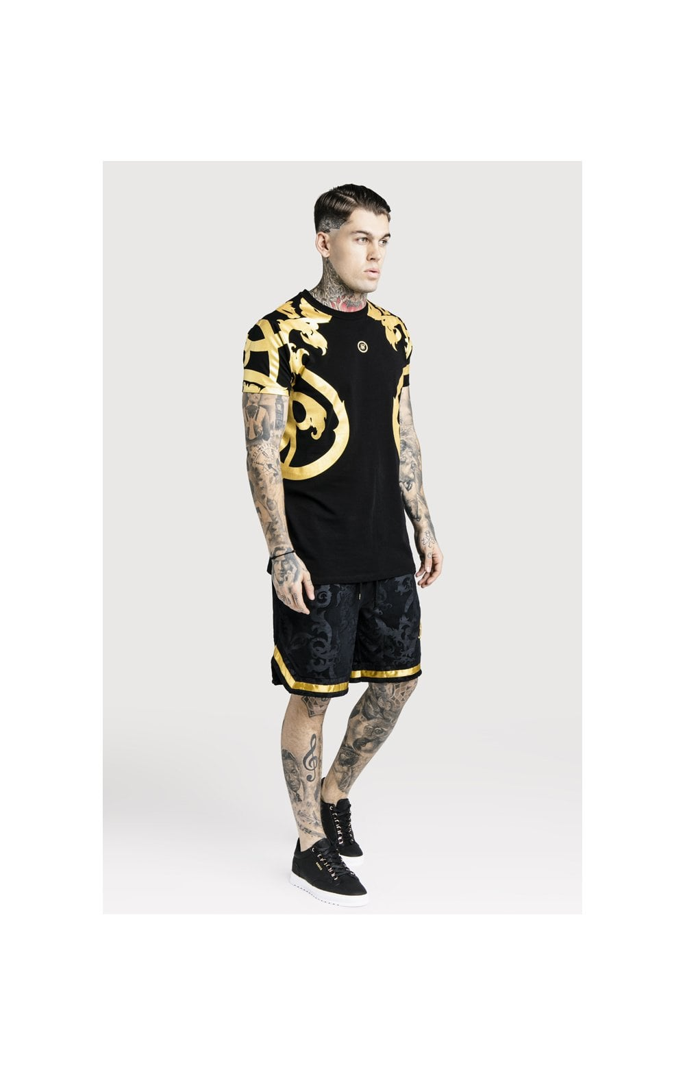 Load image into Gallery viewer, SikSilk x Dani Alves Velour Baseball Shorts - Black (1)