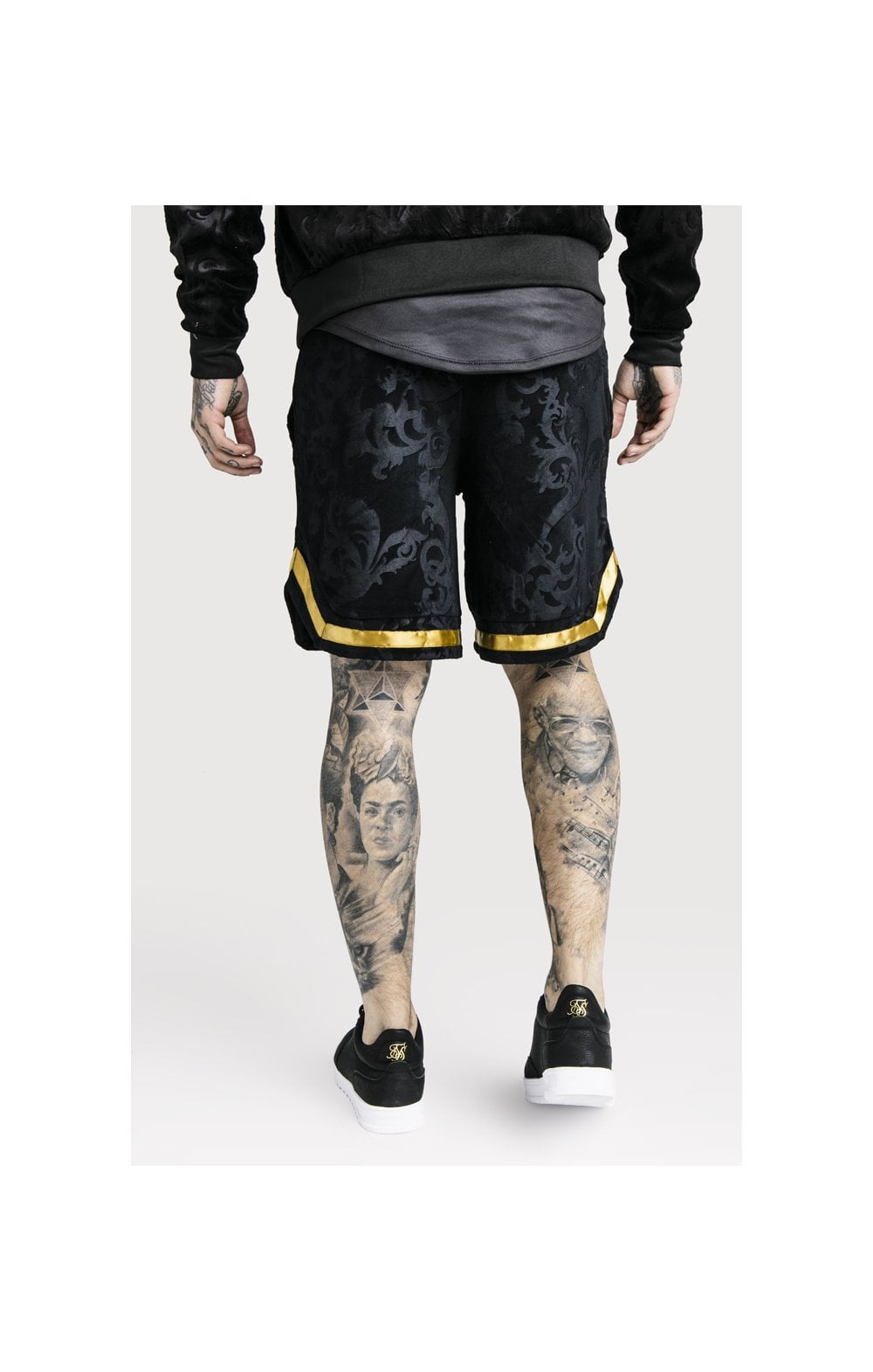 Load image into Gallery viewer, SikSilk x Dani Alves Velour Baseball Shorts - Black (2)