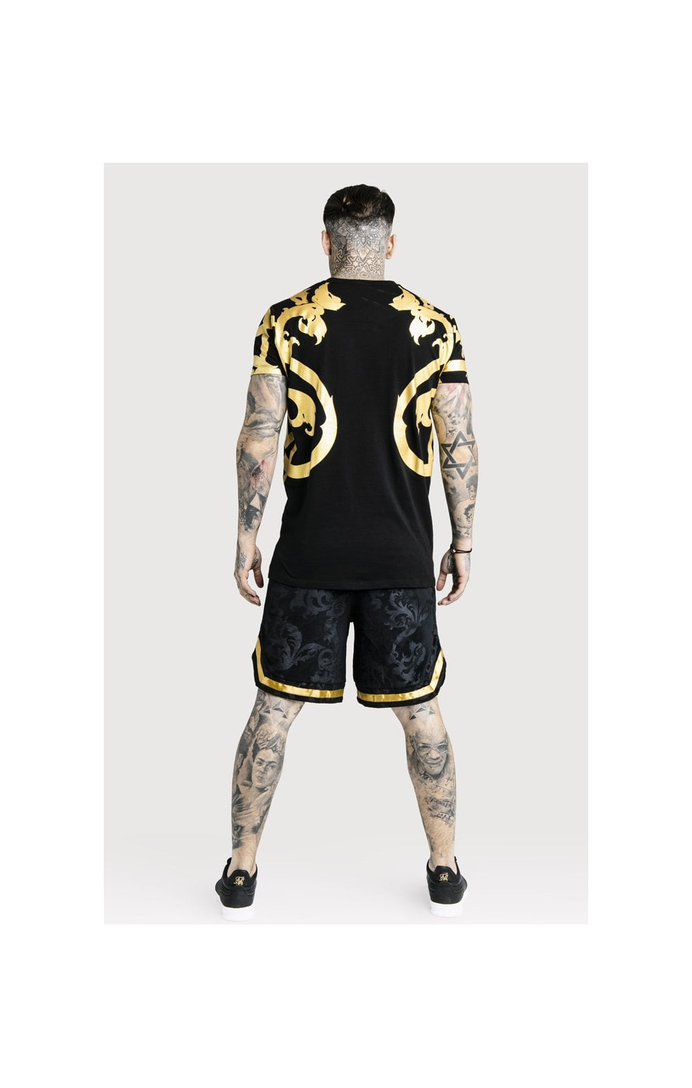 Load image into Gallery viewer, SikSilk x Dani Alves Velour Baseball Shorts - Black (3)