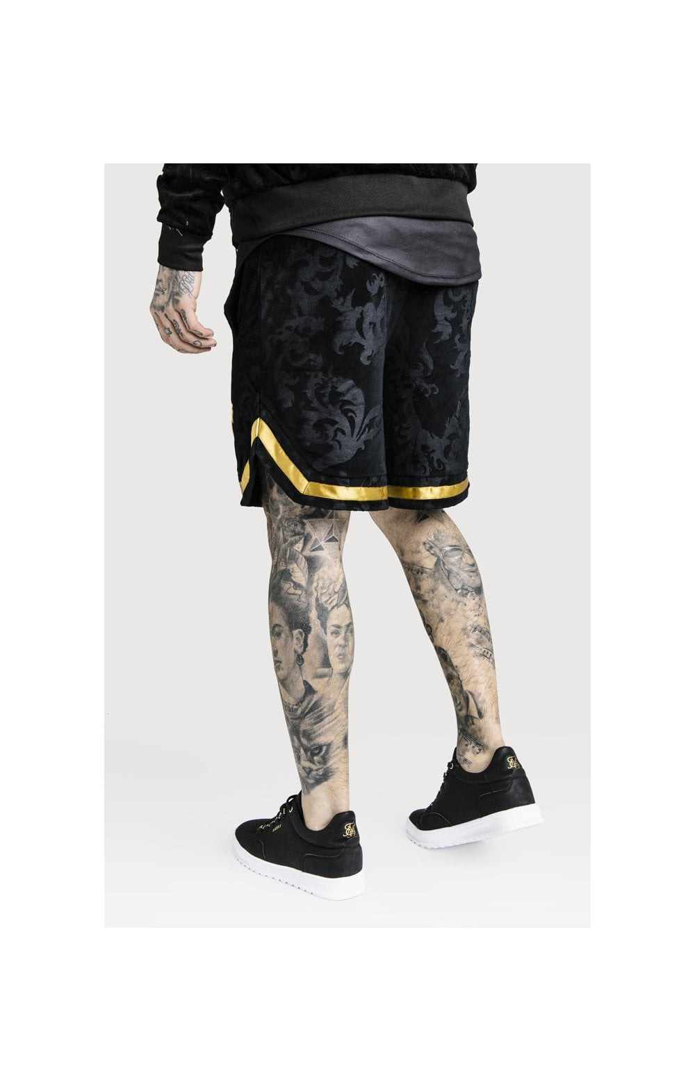 Load image into Gallery viewer, SikSilk x Dani Alves Velour Baseball Shorts - Black (5)