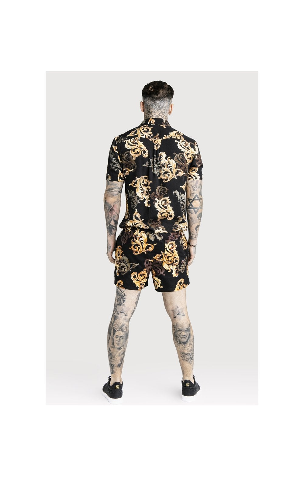 SikSilk x Dani Alves Swim Shorts - Black & Gold (7)