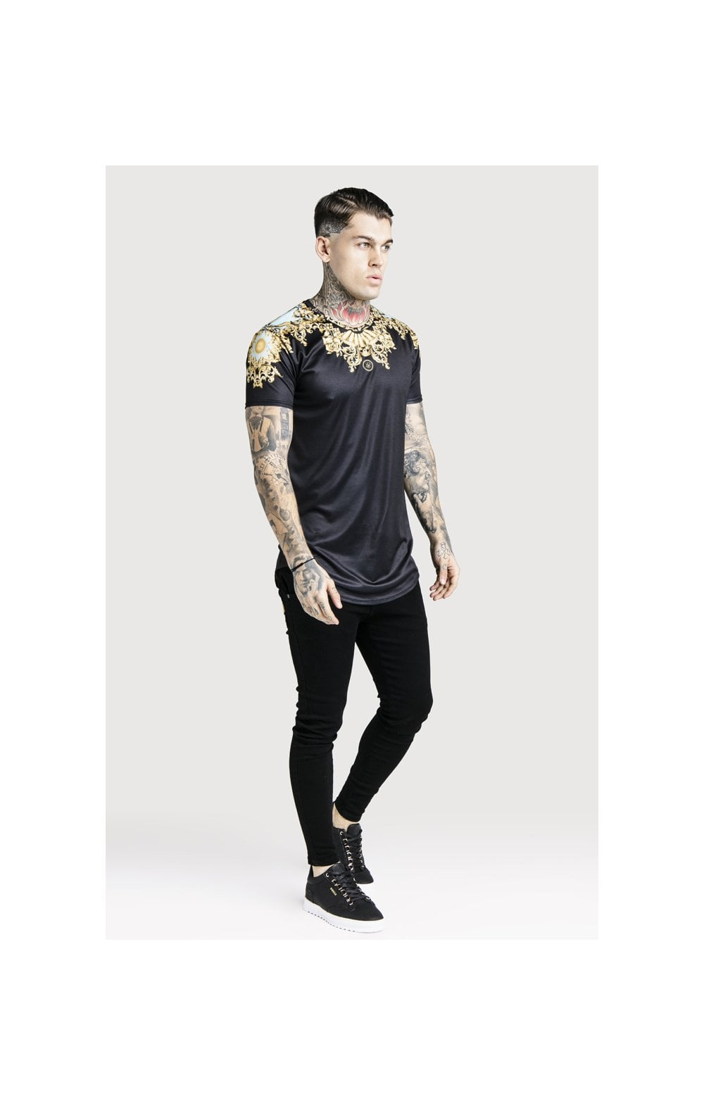 SikSilk x Dani Alves Lord Curved Hem Tee - Black (2)