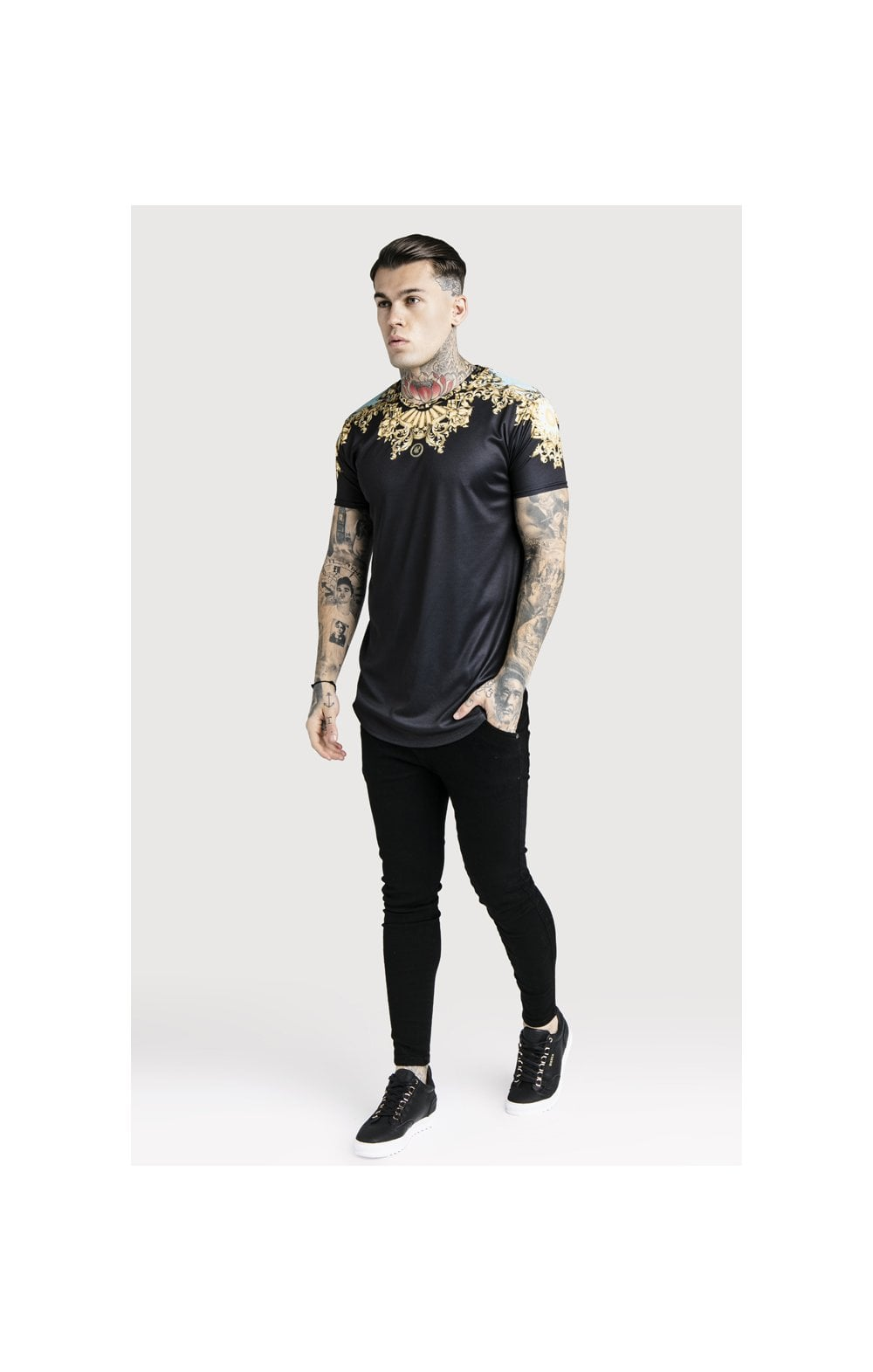 SikSilk x Dani Alves Lord Curved Hem Tee - Black (4)
