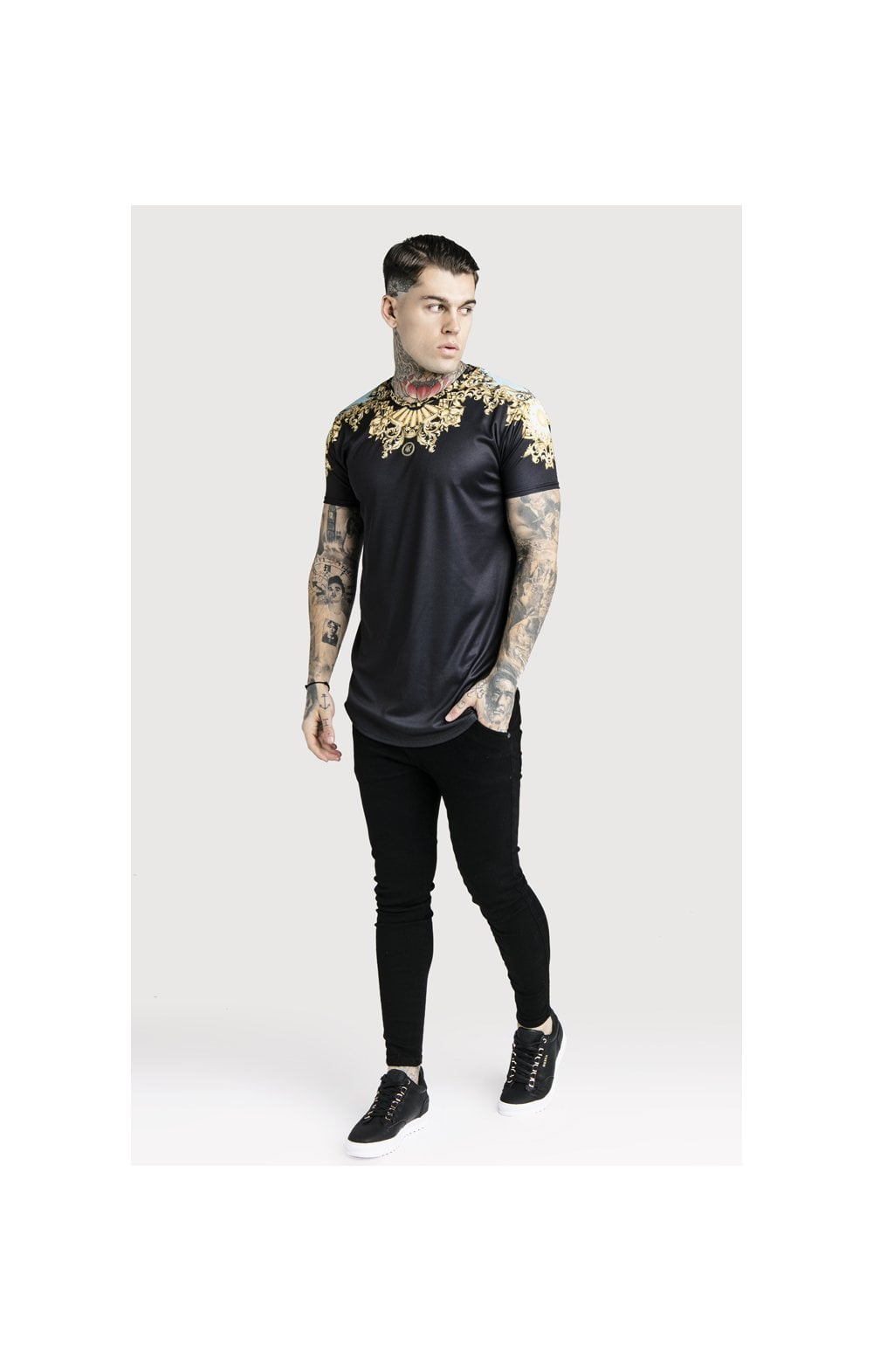 SikSilk x Dani Alves Lord Curved Hem Tee - Black (5)