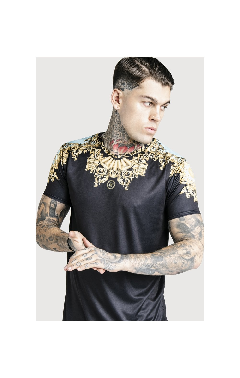 SikSilk x Dani Alves Lord Curved Hem Tee - Black (1)