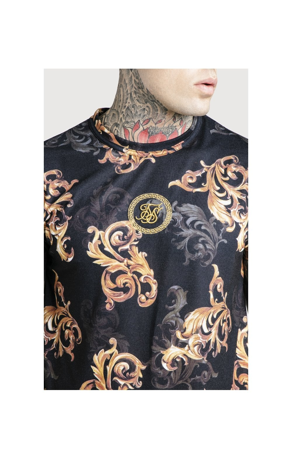 SikSilk x Dani Alves Reverse Collar Tee - Black