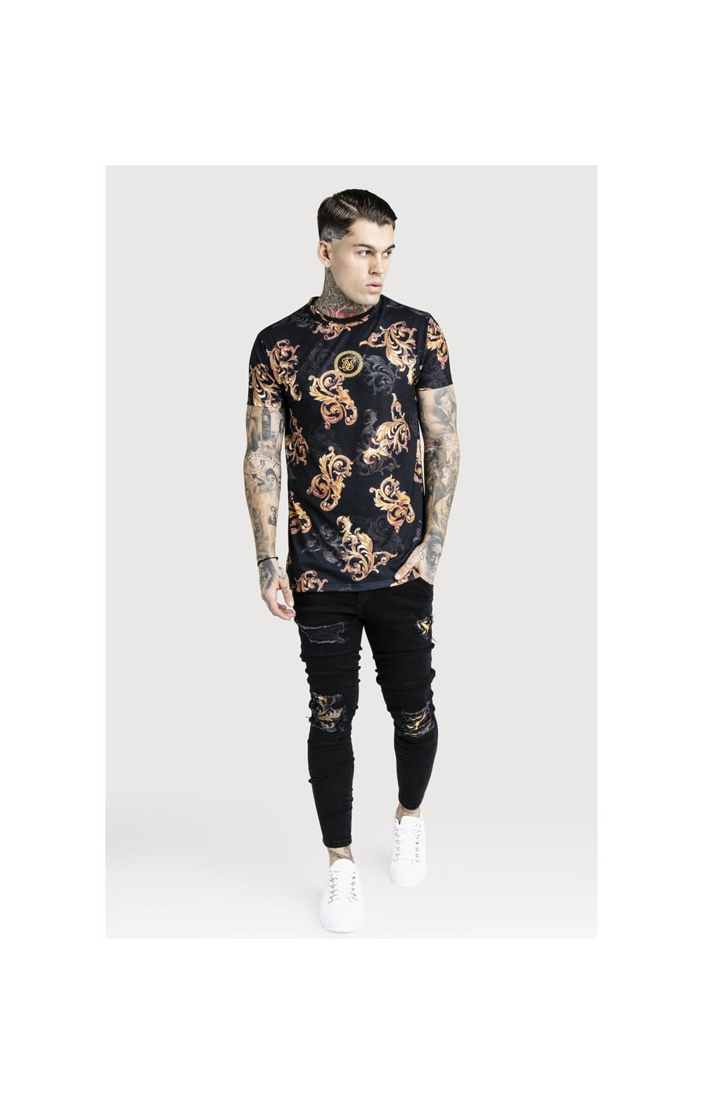 SikSilk x Dani Alves Reverse Collar Tee - Black (2)