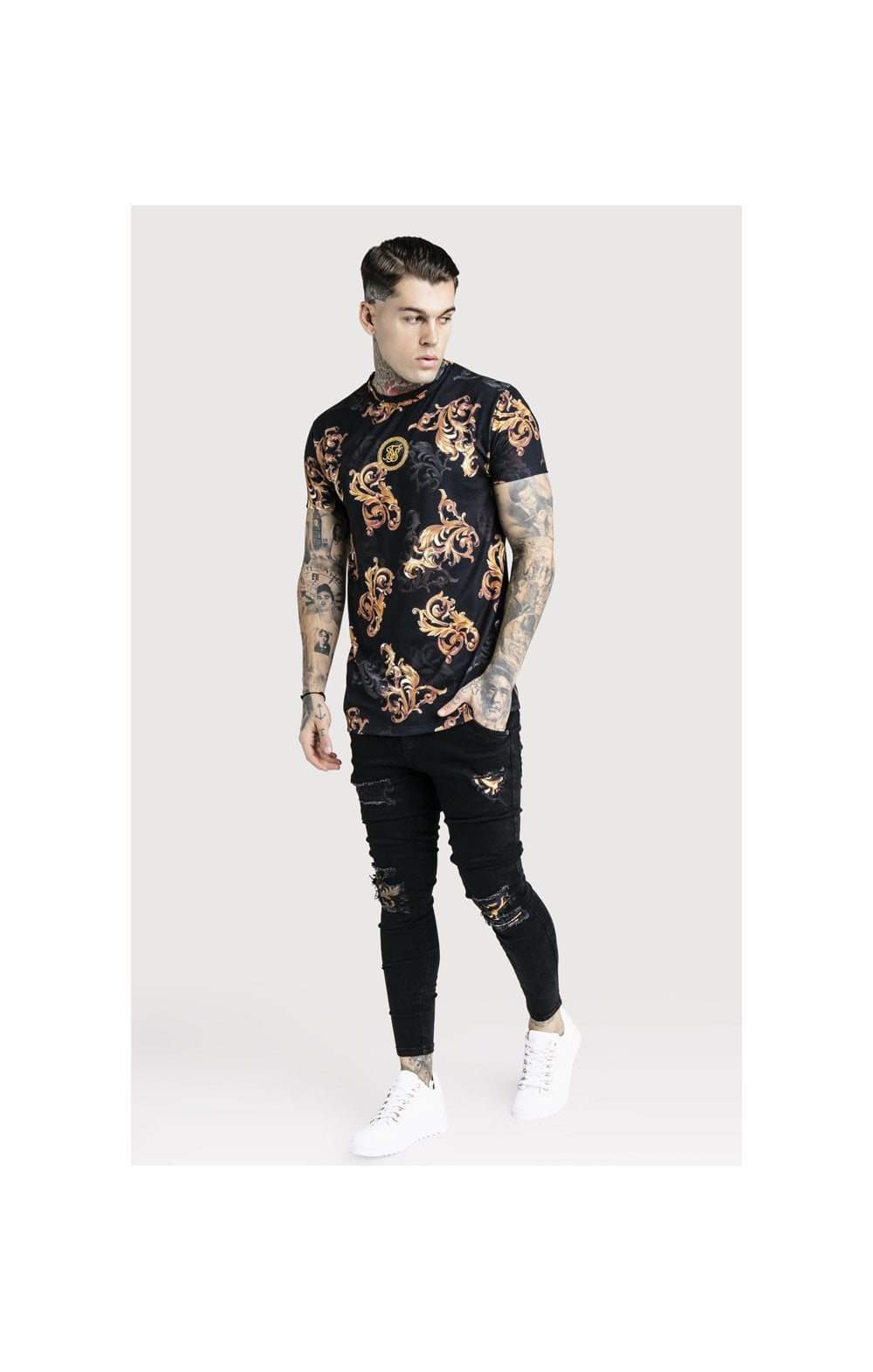 SikSilk x Dani Alves Reverse Collar Tee - Black (4)