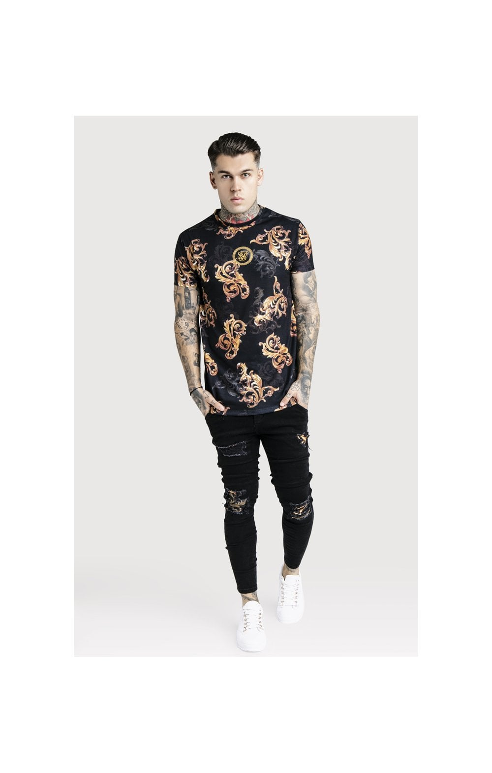 SikSilk x Dani Alves Reverse Collar Tee - Black (5)
