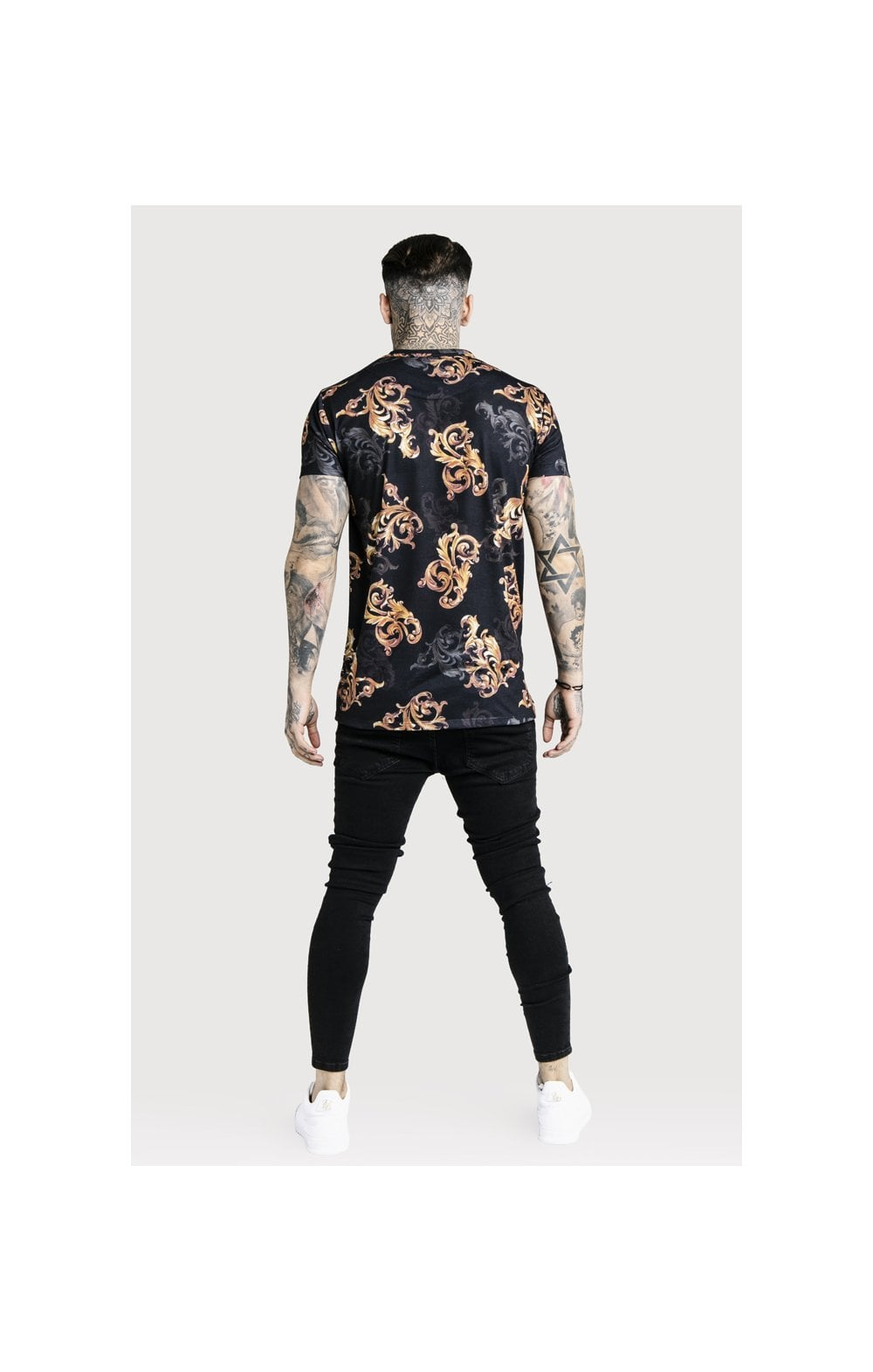 SikSilk x Dani Alves Reverse Collar Tee - Black (6)