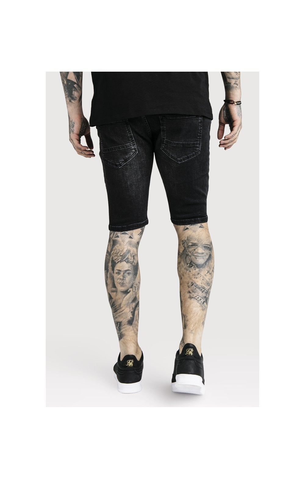 Load image into Gallery viewer, SikSilk Distressed Skinny Shorts (1)